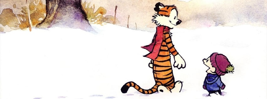 Calvin and Hobbes Facebook cover photo