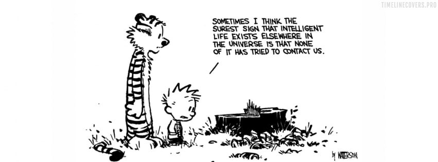 Calvin and Hobbes Intelligent Life Facebook cover photo