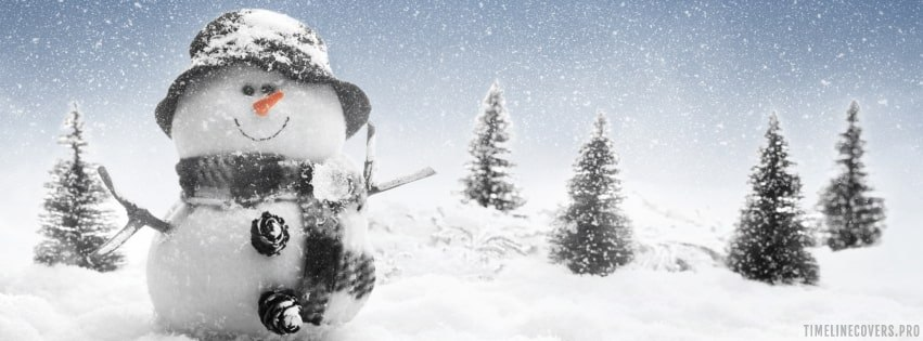 Christmas Snowman Xmas Facebook cover photo