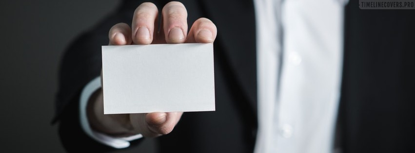 Close Up of Hand Holding Business Card Facebook cover photo