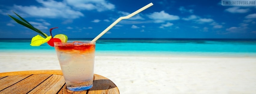Cocktail on The Beach Facebook cover photo