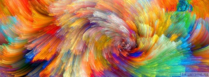 Colorful Abstract Design Twirl Facebook cover photo
