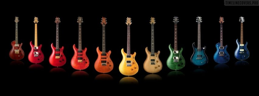 Colorful Guitars Facebook cover photo