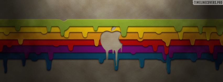 Colorful Apple Paint Facebook cover photo