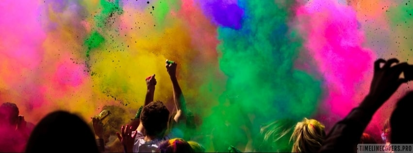 Colors of Holi Facebook cover photo