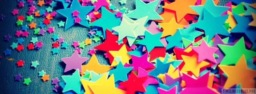 Cool Colorful Stars Facebook cover photo