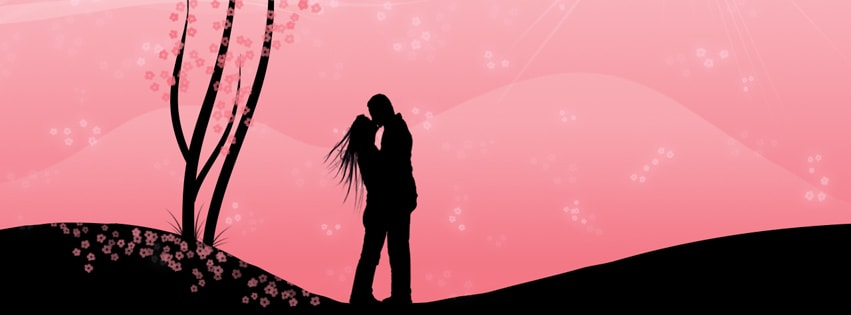 Couple in Love Facebook cover photo