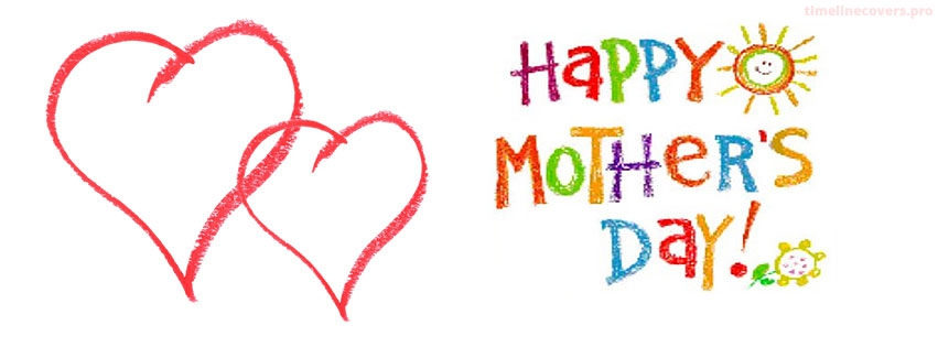 Crayon Drawings Happy Mothers Day Facebook cover photo
