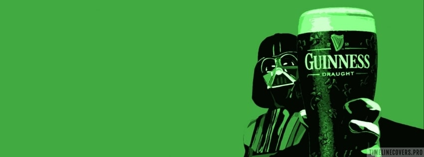 Darth Vader Drinking Draught Guinness Facebook cover photo