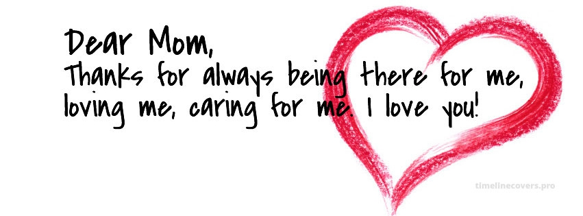 Dear Mom Mothers Day Facebook cover photo