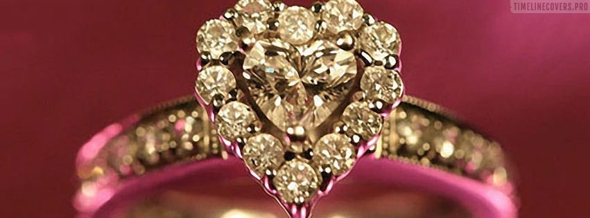 Diamond Engagement Ring Facebook cover photo