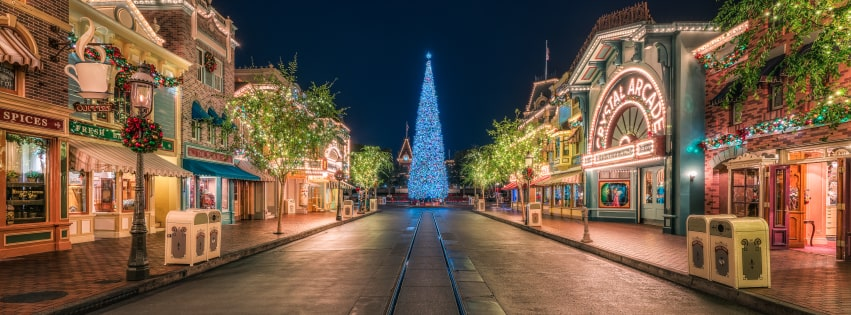 Disneyland at Christmastime Facebook cover photo
