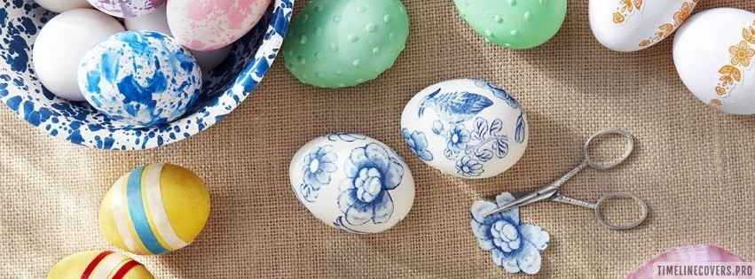 Easter Egg Decorating Ideas Facebook cover photo