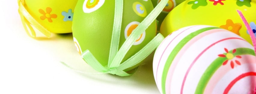 Easter Eggs with Ribbons Facebook cover photo