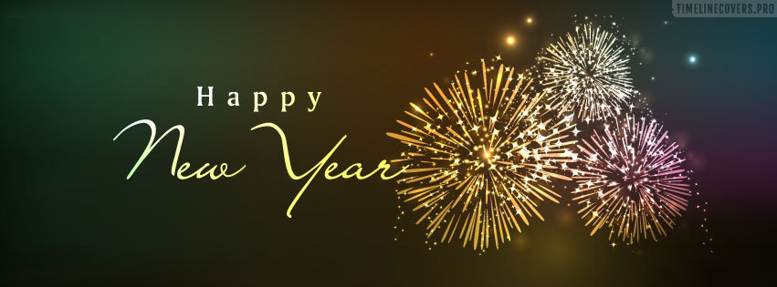Elegant Happy New Year Facebook cover photo