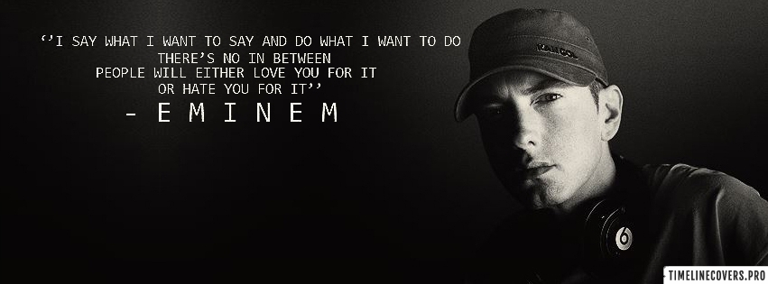 Eminem Marshall Mathers Quote Facebook cover photo