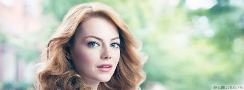 Emma Stone Looking Back Facebook cover photo