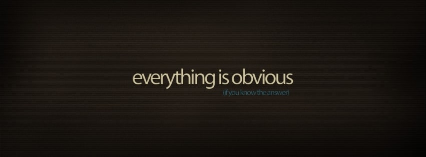 Everything is Obvious Facebook cover photo