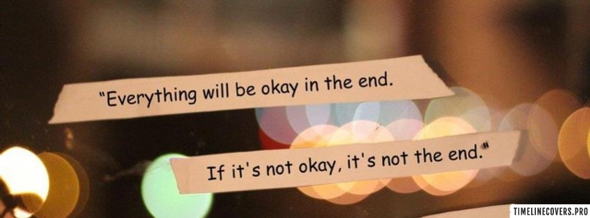 Everything Will be Okay Lights Facebook cover photo