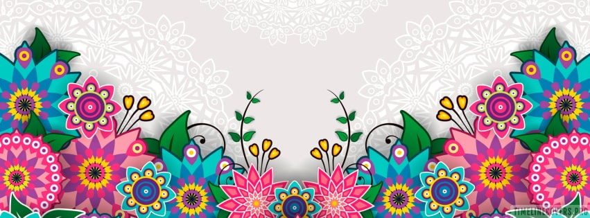 Flowers Graphic Facebook cover photo