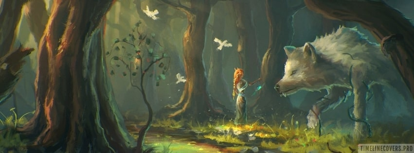 Forest Fantasy MMO Art Facebook cover photo