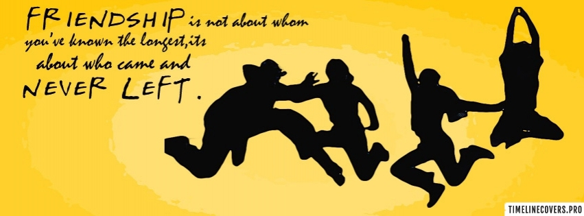 Friendship Quote Facebook cover photo