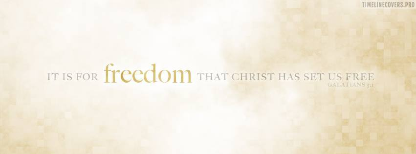 Galatians Freedom Christian Facebook cover photo