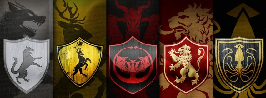 Game of Thrones 5 Clans Facebook cover photo