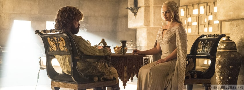 Game of Thrones Daenerys Targaryen and Tyrion Lannister Facebook cover photo