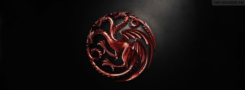 Game of Thrones House Targaryen Facebook cover photo