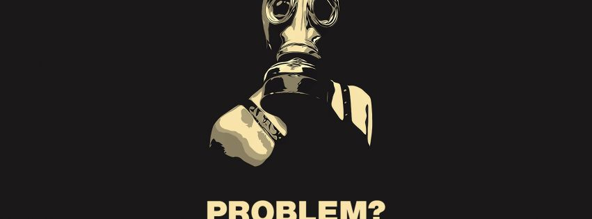 Gas Mask No Problem Facebook cover photo