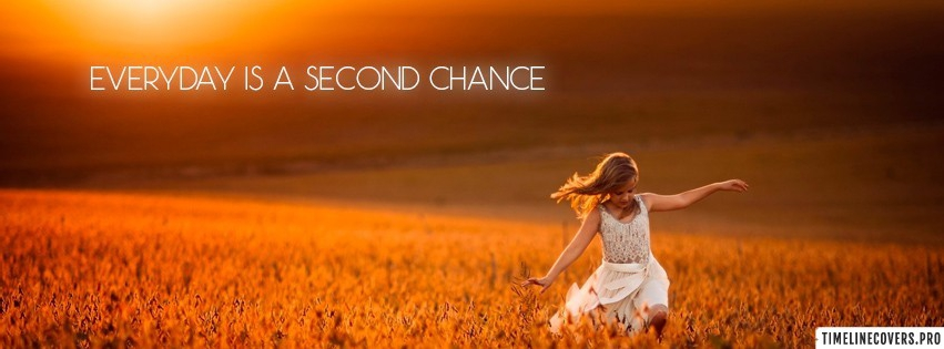 Girl Sunset Fields Second Chance Facebook cover photo
