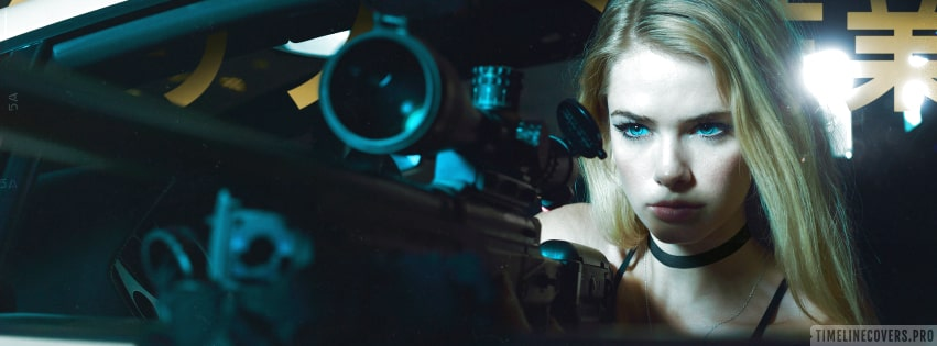 Girls and Guns Sniper Facebook cover photo
