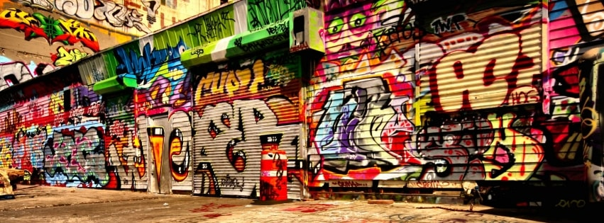 Graffiti All Over The Place Facebook cover photo