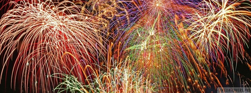 Grand Fireworks - Happy New Year Facebook cover photo