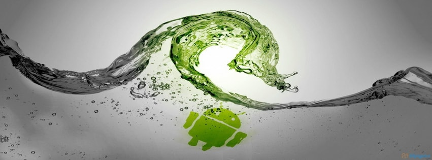 Green Water and Android Facebook cover photo