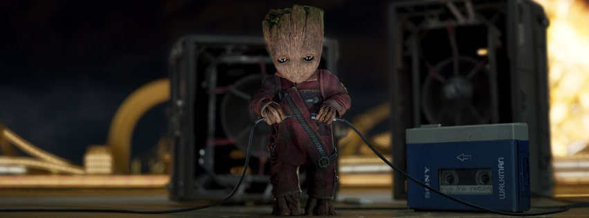Guardians of The Galaxy 2 Groot Facebook cover photo