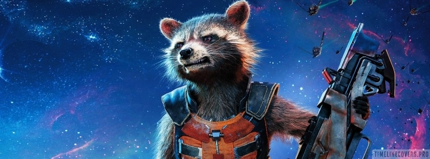 Guardians of The Galaxy Rocket Raccoon Facebook cover photo