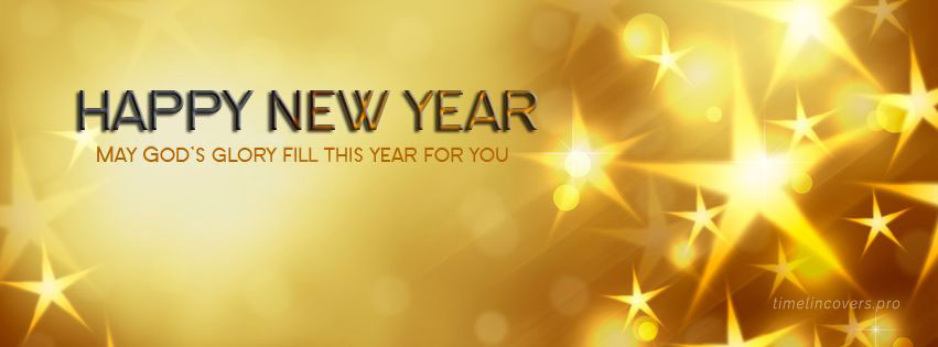 Happy New Year Celebration Facebook cover photo