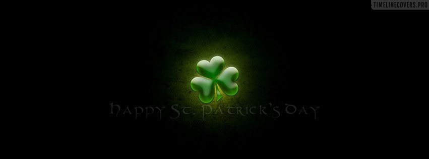 Happy St Patricks Day Facebook cover photo