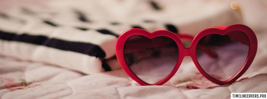 Heart Shaped Glasses Facebook cover photo