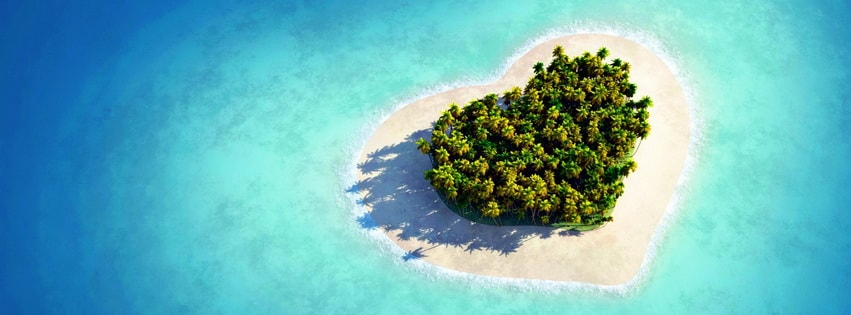 Heart Shaped Island Facebook cover photo