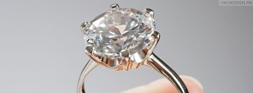 Holding a Diamond Engagement Ring Facebook cover photo