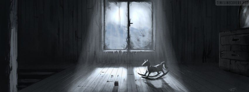 Horror Scary Spooky Halloween Room Facebook cover photo