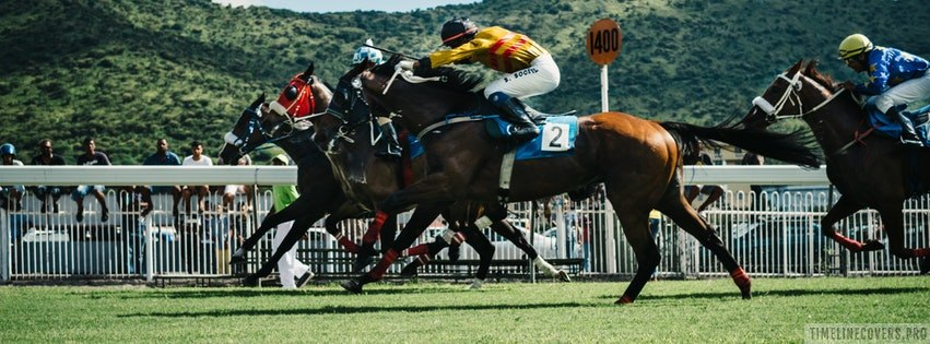 Horse Racing Facebook cover photo
