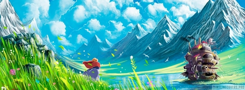 Howls Moving Castle Facebook cover photo