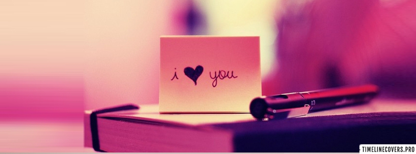 I Love You Note Facebook cover photo
