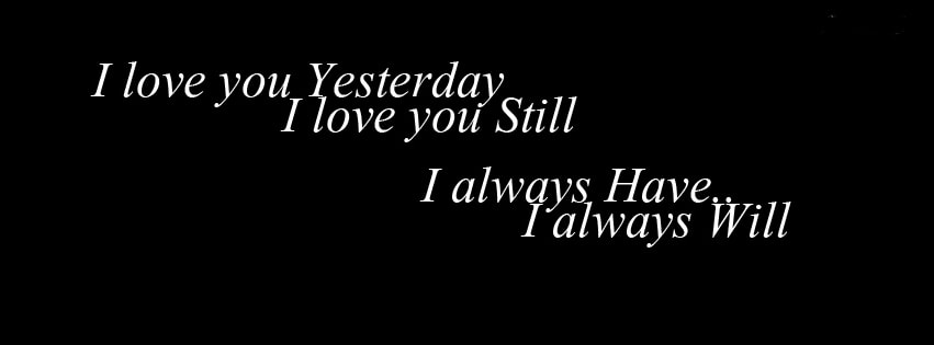 I Love You Yesterday Facebook cover photo