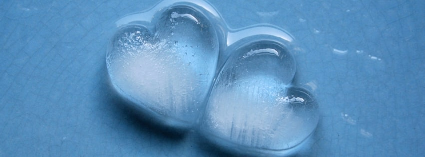 Ice Hearts Facebook cover photo