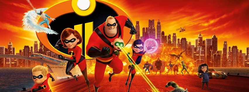 Incredibles 2 Running Facebook cover photo